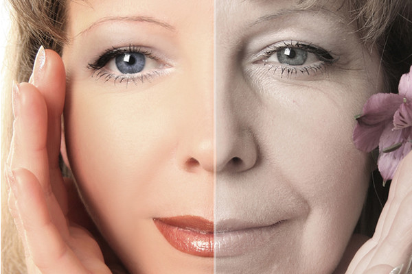 ageing process of beautiful woman