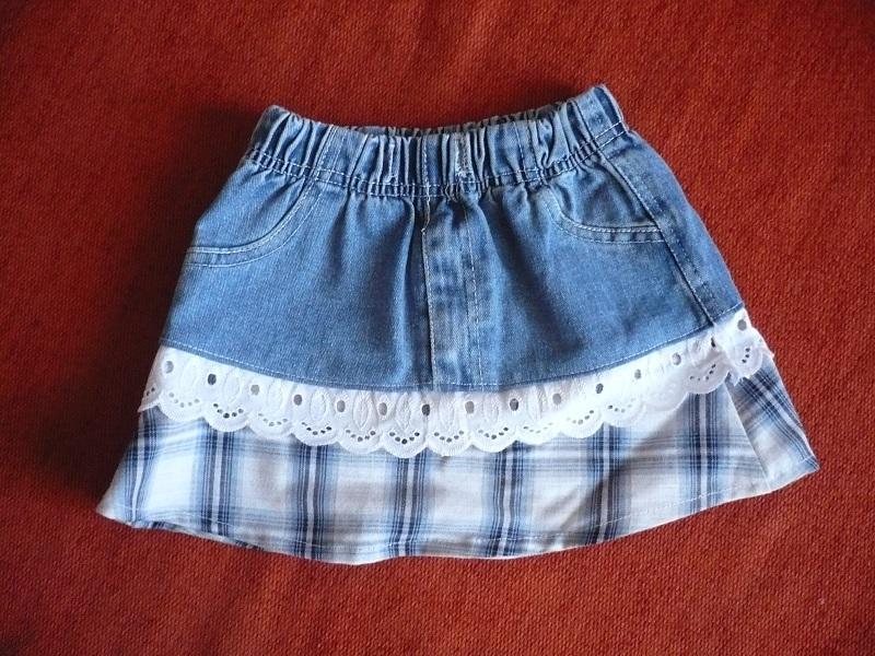 Джинсовая детская юбка фото