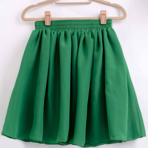 Как сшить юбку из шифона с подкладкой