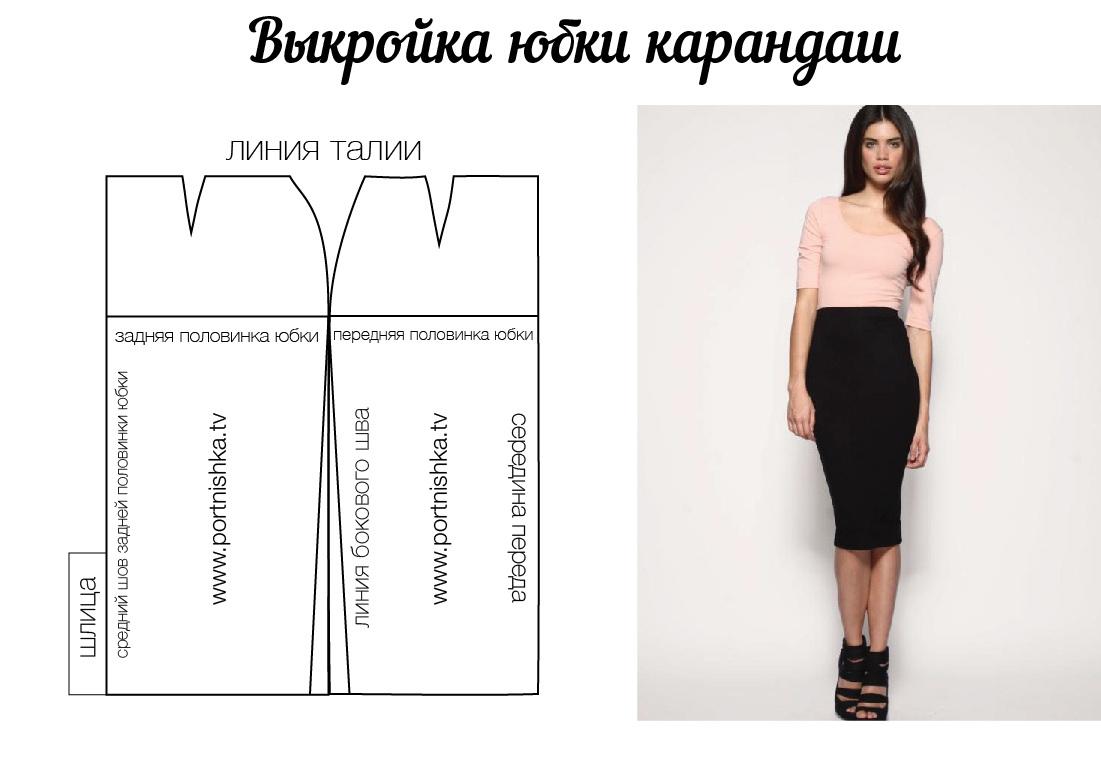 Шьем юбка карандаш с выкройками