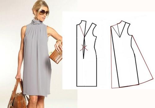 Простая выкройка платья трапеция