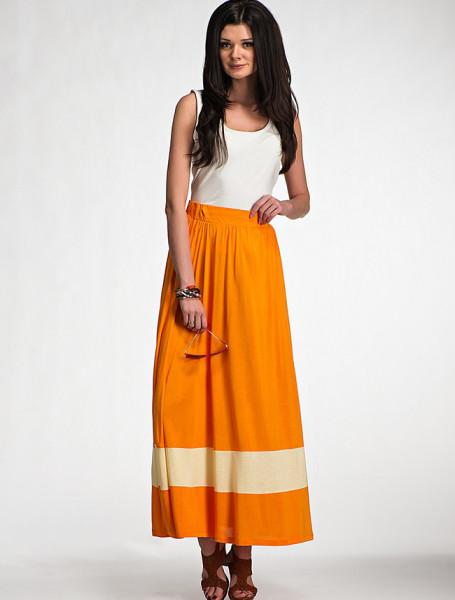 Длинная юбка на резинке своими руками