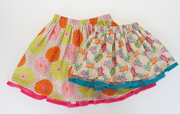 Быстро сшить юбку девочке
