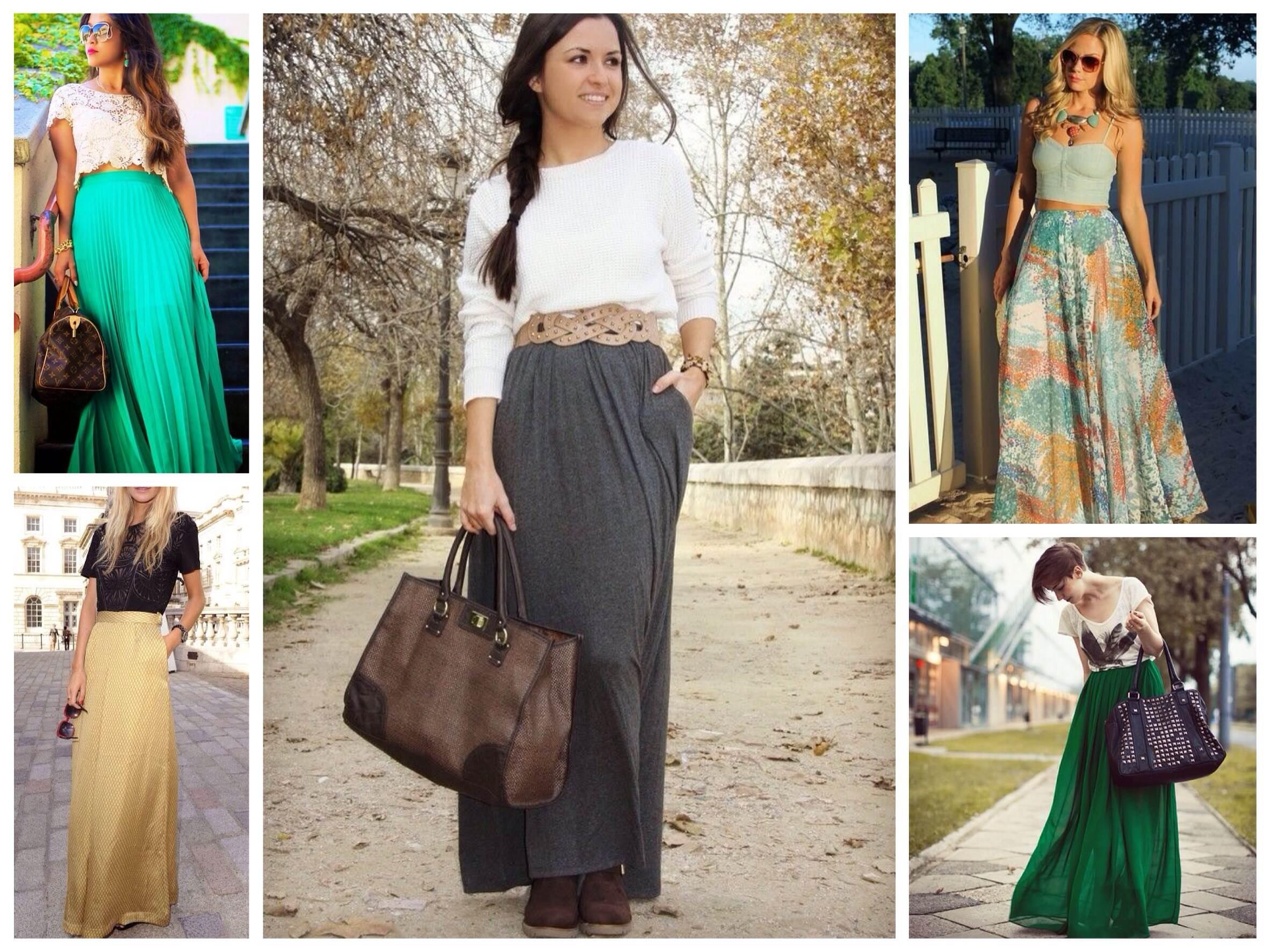 Модные юбки на весну 2018 года: модели длинные в пол