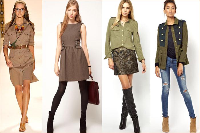 Одежда в ��иле мили�а�и С�ил� мили��аи в жен�кой одежде