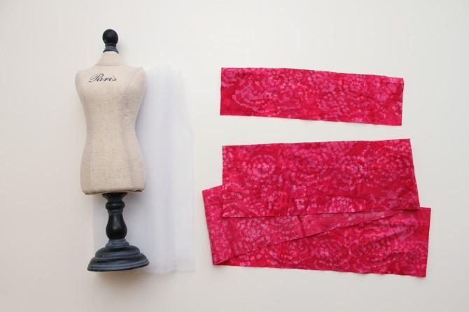Как сшить юбку из ткани для куклы