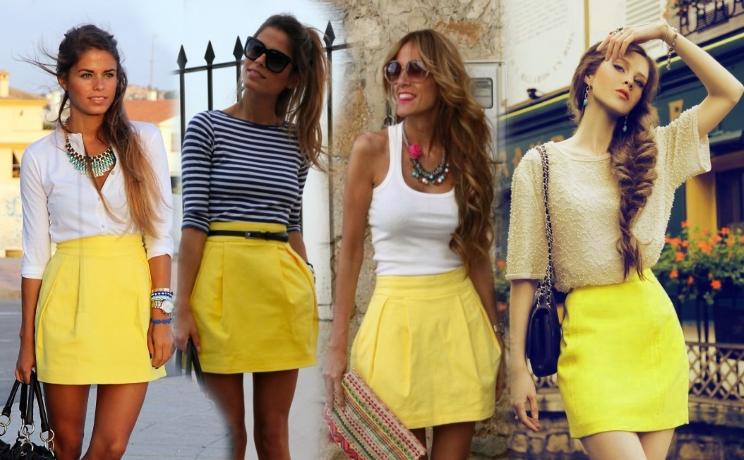 С чем носить короткую обтягивающая юбка