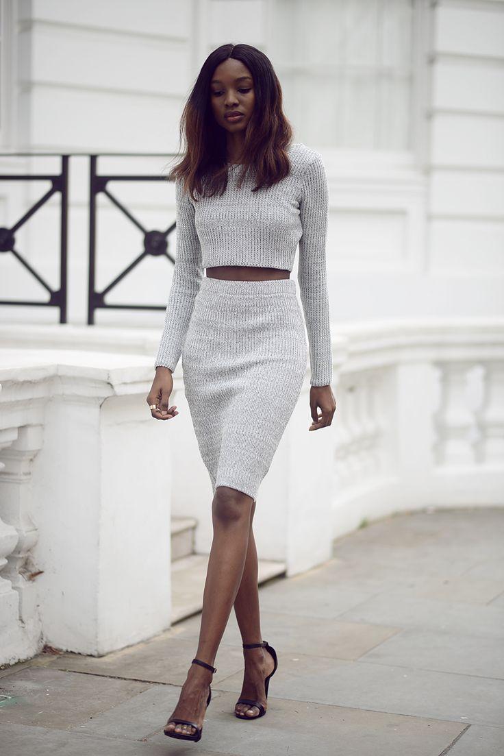 Вязание топ и юбка