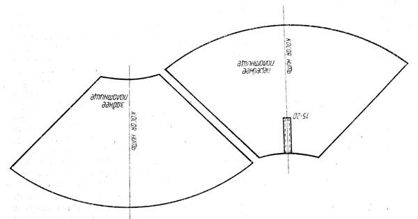Юбка полусолнце с 2 швами