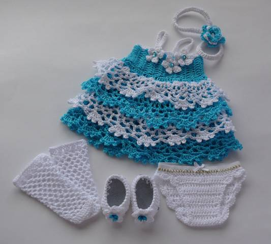 Схема вязания юбки для куклы крючком