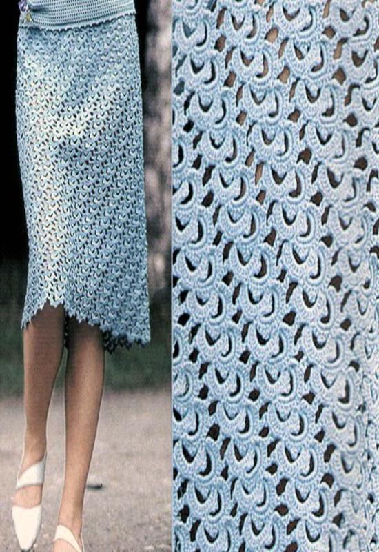 Вязать стильную юбку