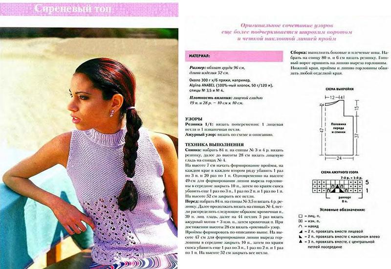 Летнее вязание спицами для женщин модные модели 110