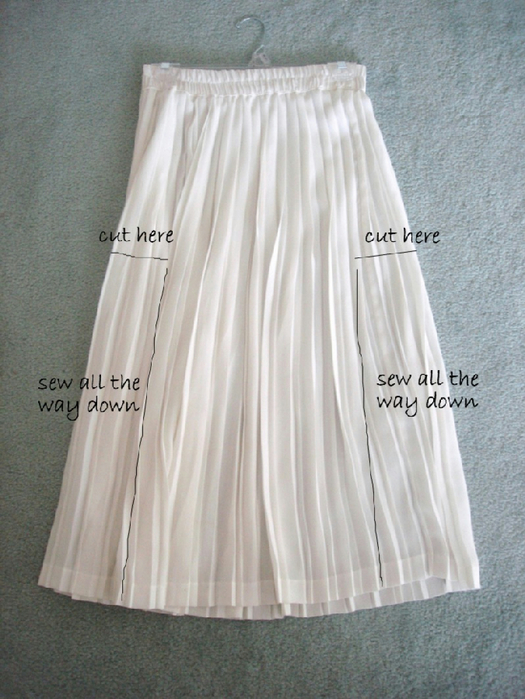Как длинную юбку переделать в платье