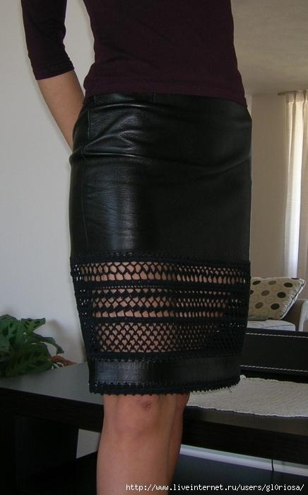 Как удлинить широкую юбку