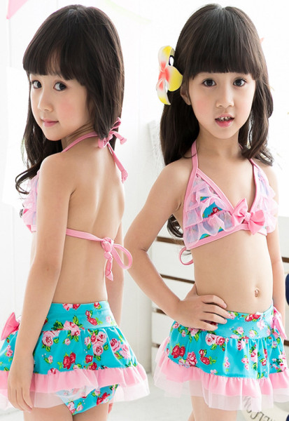 2014-Hot-Sale-Lace-Swimming-Suit-For-Girls-Wholesale-Fashion-Girls-Beach-Cloth-Cute-Design-Free