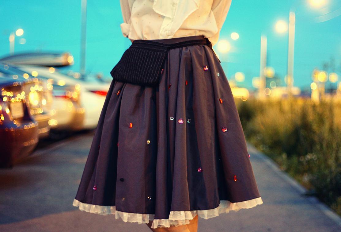 Украшение на юбку своими руками