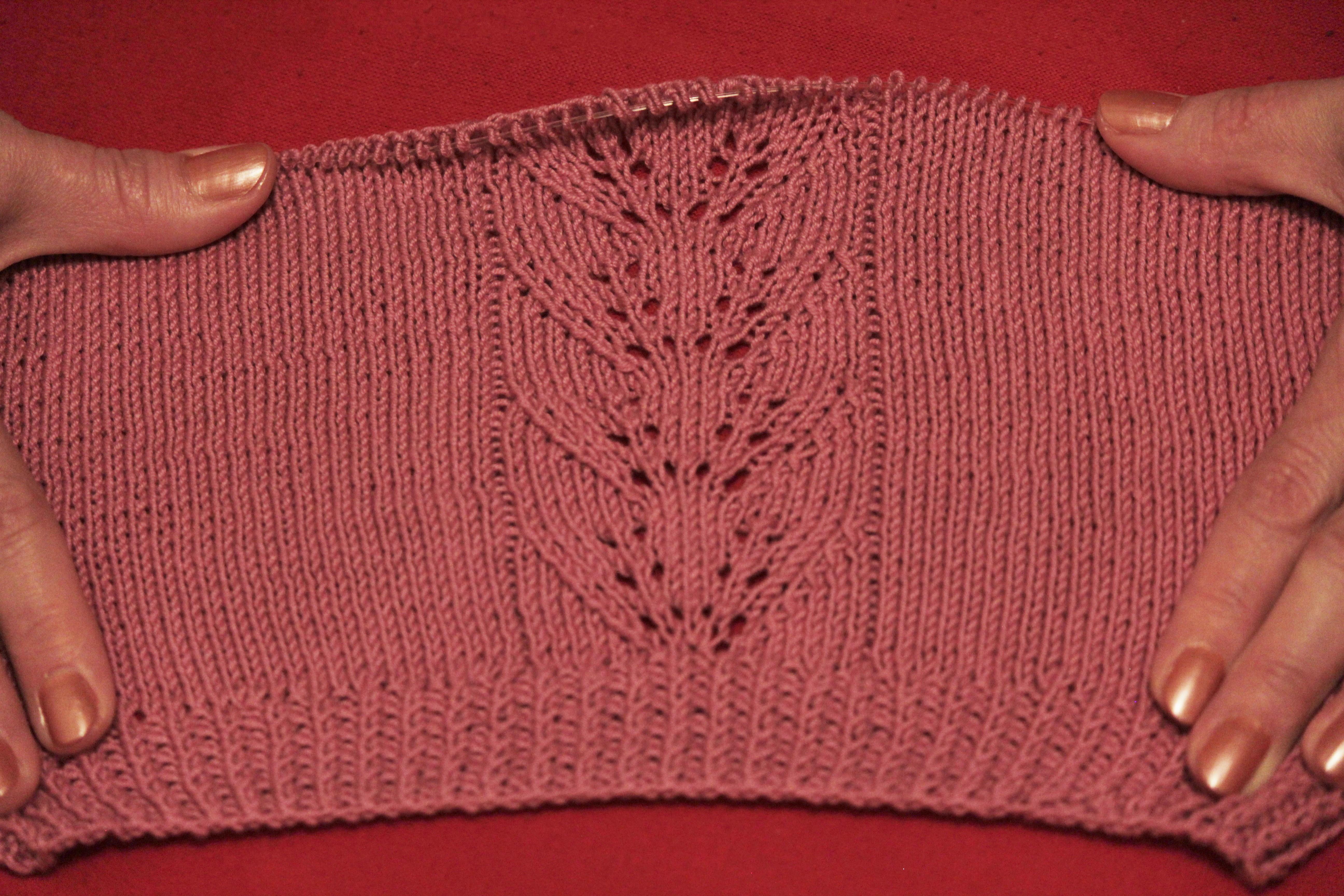 схема вязания от горловины свитера для девочки 2 лет