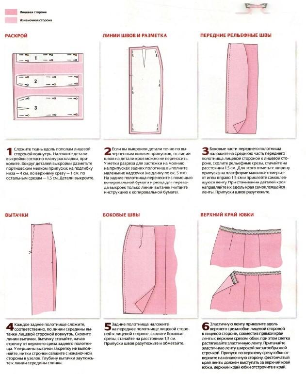 Как сшить карандаш юбку своими руками