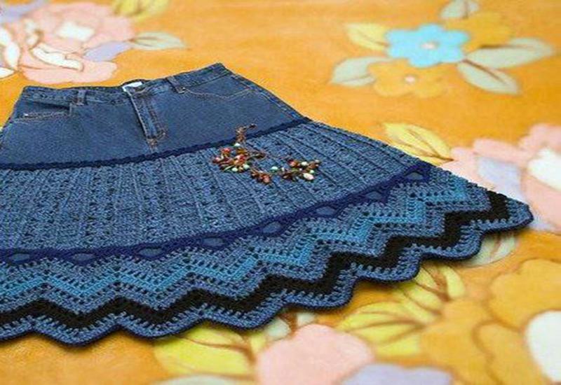 Как красиво обвязать юбку