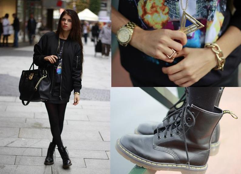 Стиль ботинки и юбка