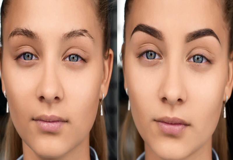 тату бровей фото до и после