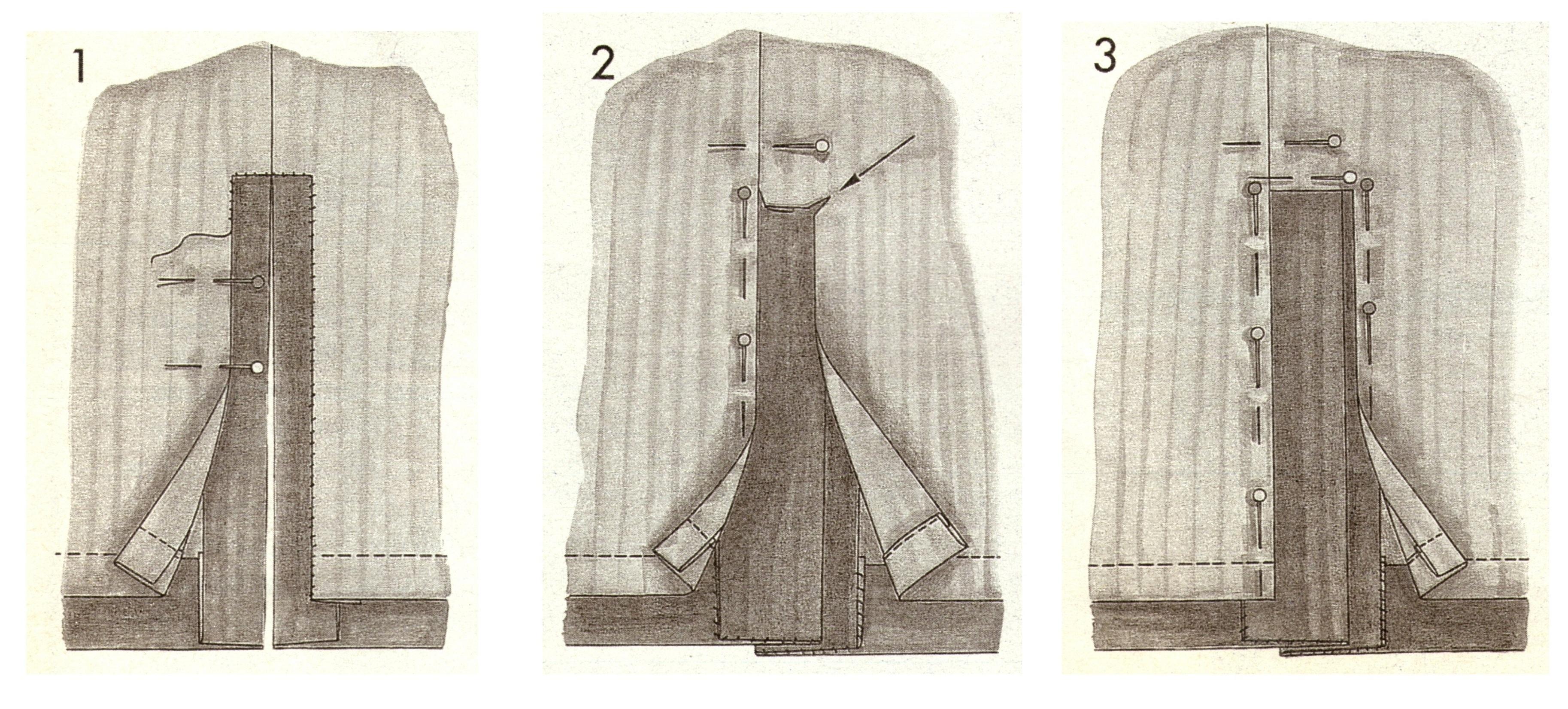 Обработка шлицы юбки карандаш
