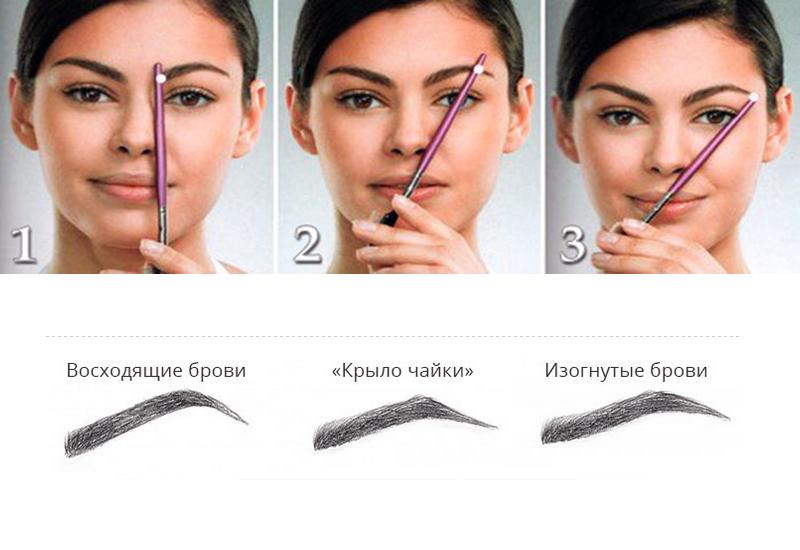 Как сделать одинаковые по форме брови