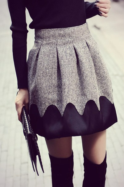 Надставить юбку