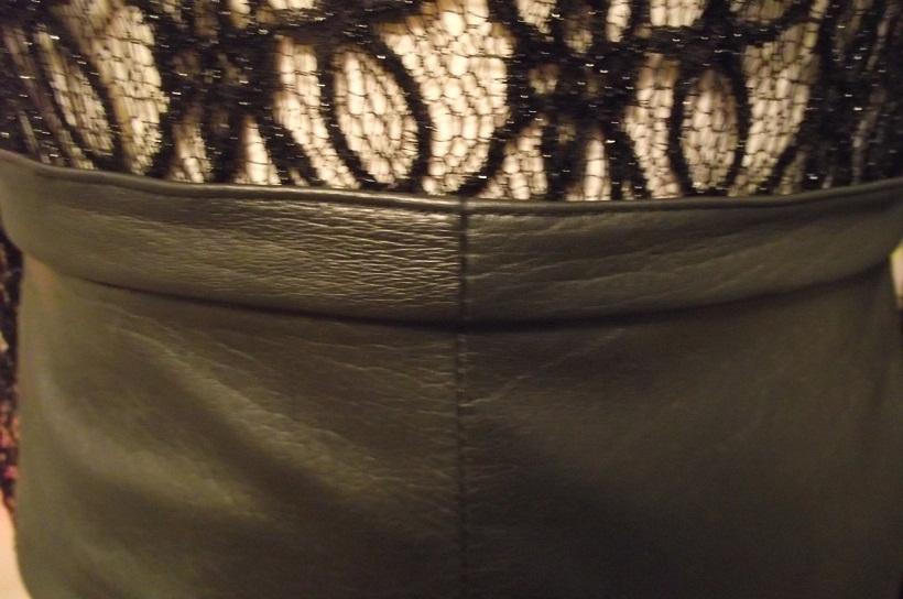 Как сшить кожаную юбку из куртки
