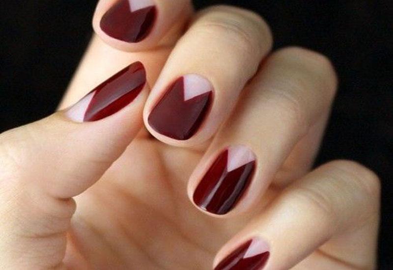 Дизайн ногтей шеллак марсала