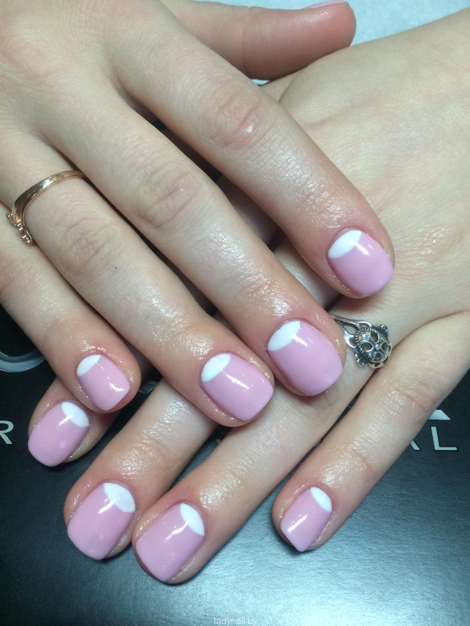 Маникюр на короткие ногти гелем фото