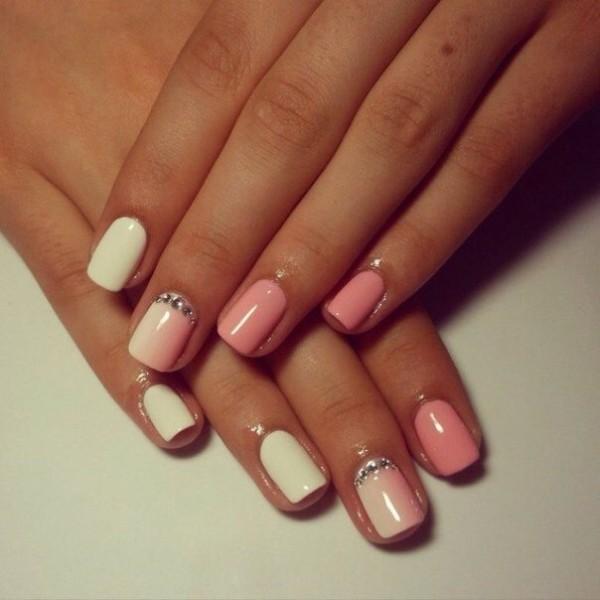 Нарощенные ногти дизайн нежные цвета