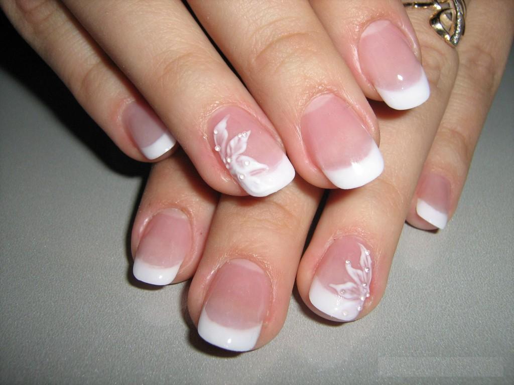 бежевых фото ногтях на дизайн