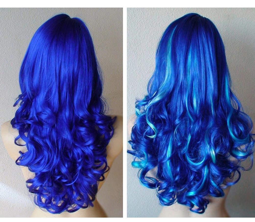 Синие волосы в домашних условиях 458