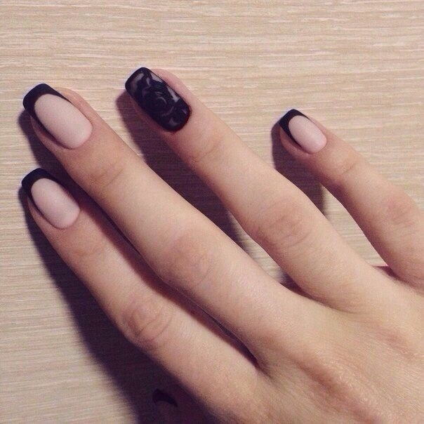 Дизайн ногтей френч матовый