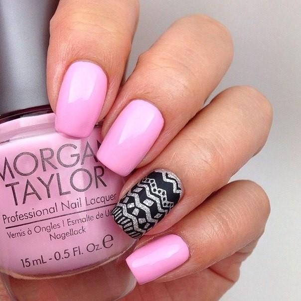 Шеллак Фото Дизайн Розовый Цвет