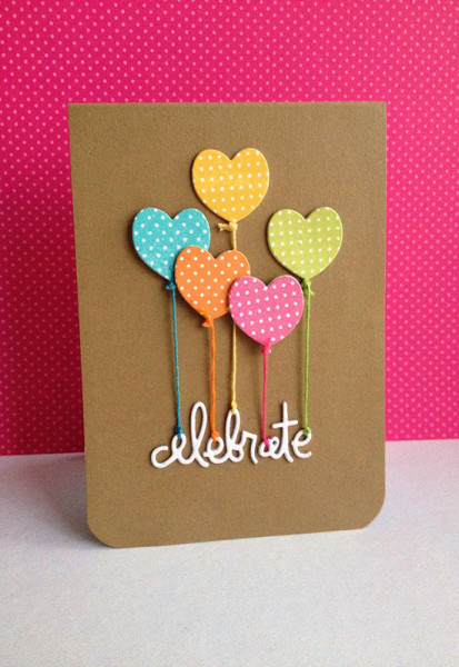handmade-card-from-i-sharp39-m-in-haven-celebrate-..-kraft-with-adorable-heart-shaped-balloons-die-cut-from-polka-dot-papers-...-tied-with-threads-of-the-same-color-...-cute-card