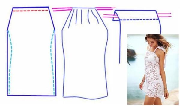 Сшить пляжное платье своими руками быстро и без выкройки 796