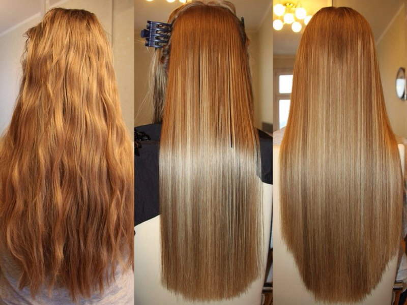 Ламинирование окрашенных волос