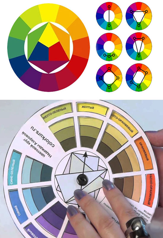 Цветовой круг фото при макияже