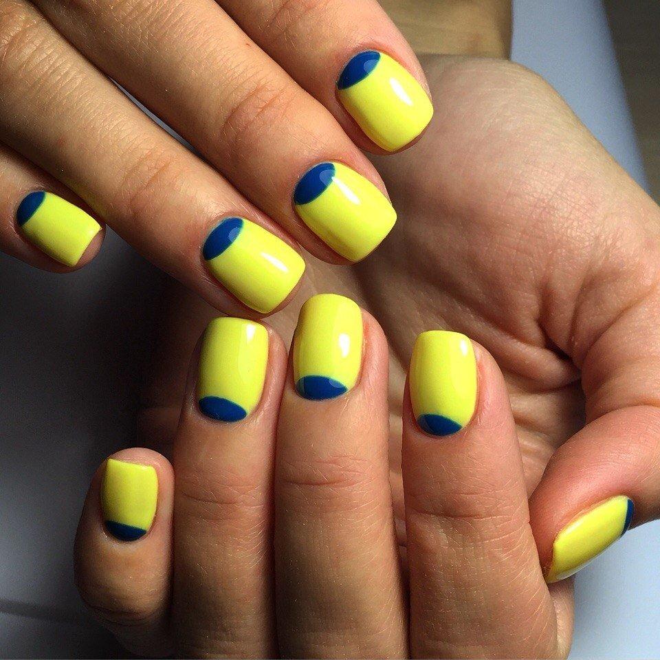 Желтые ногти шеллак