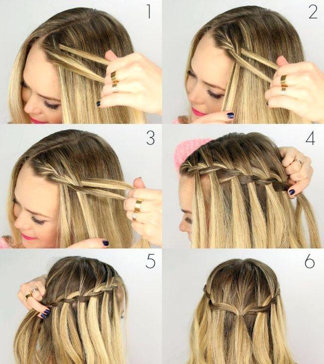 Как красиво заплести короткие волосы самой себе видео