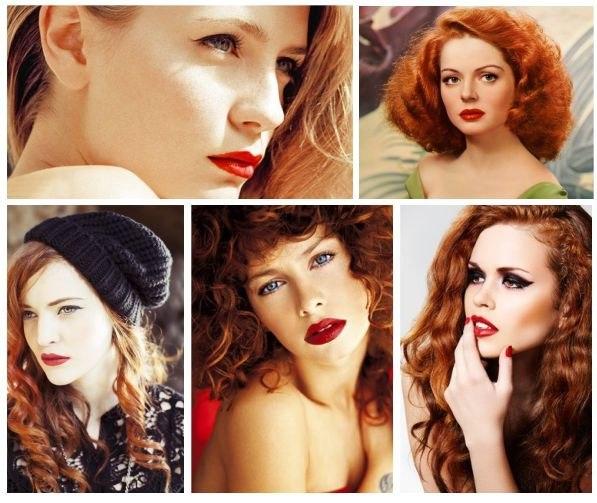 цвет волос для девушки осень