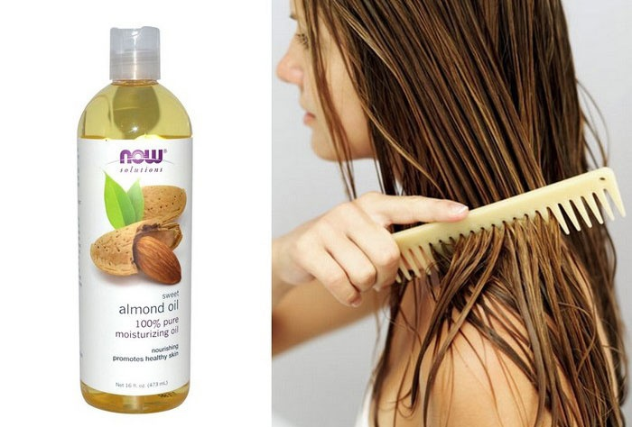 Льняное и миндальное масло для волос