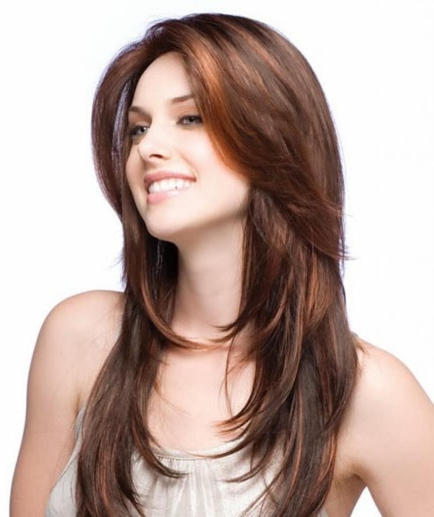 Фото причесок длинные волосы без челки