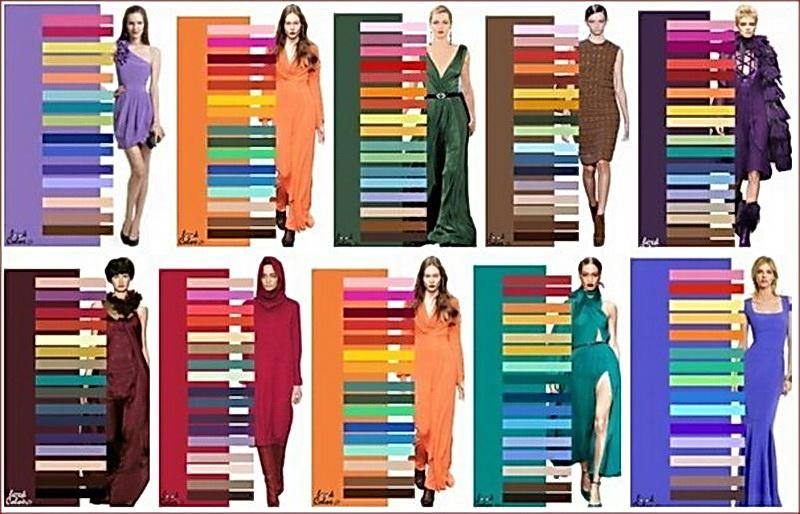 Как комбинировать цвета в одежде