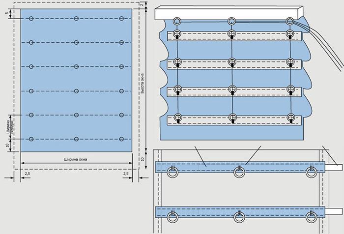 Механизм римские шторы своими руками 15