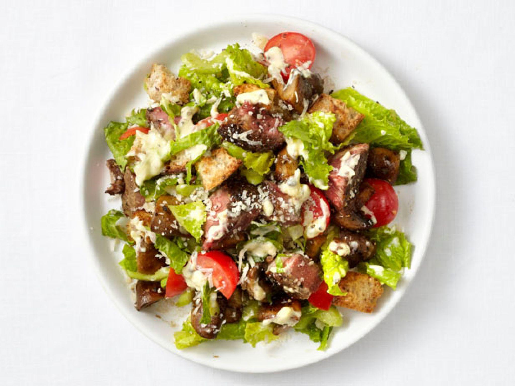 Теплый салат с телятиной рецепт с