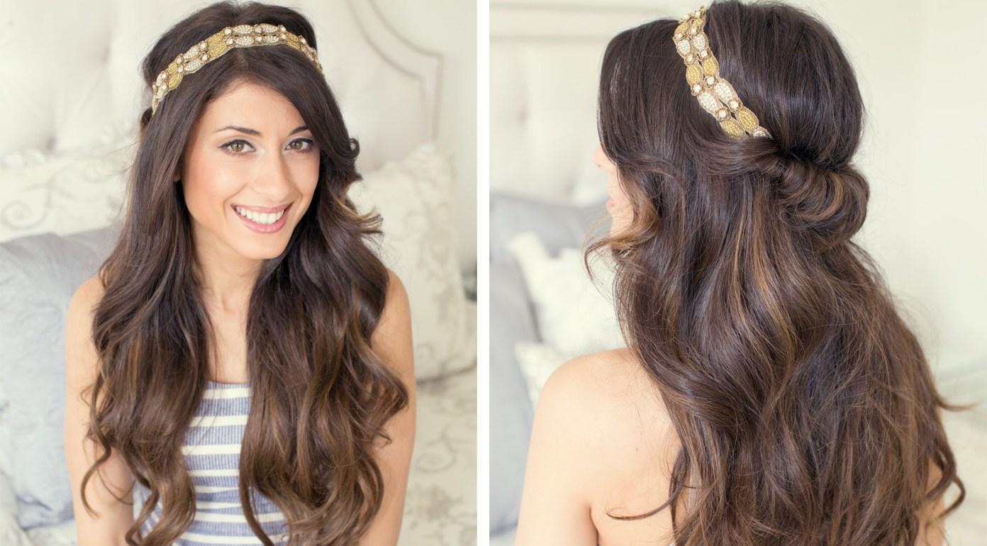 Повязка для волос греческая прическа фото