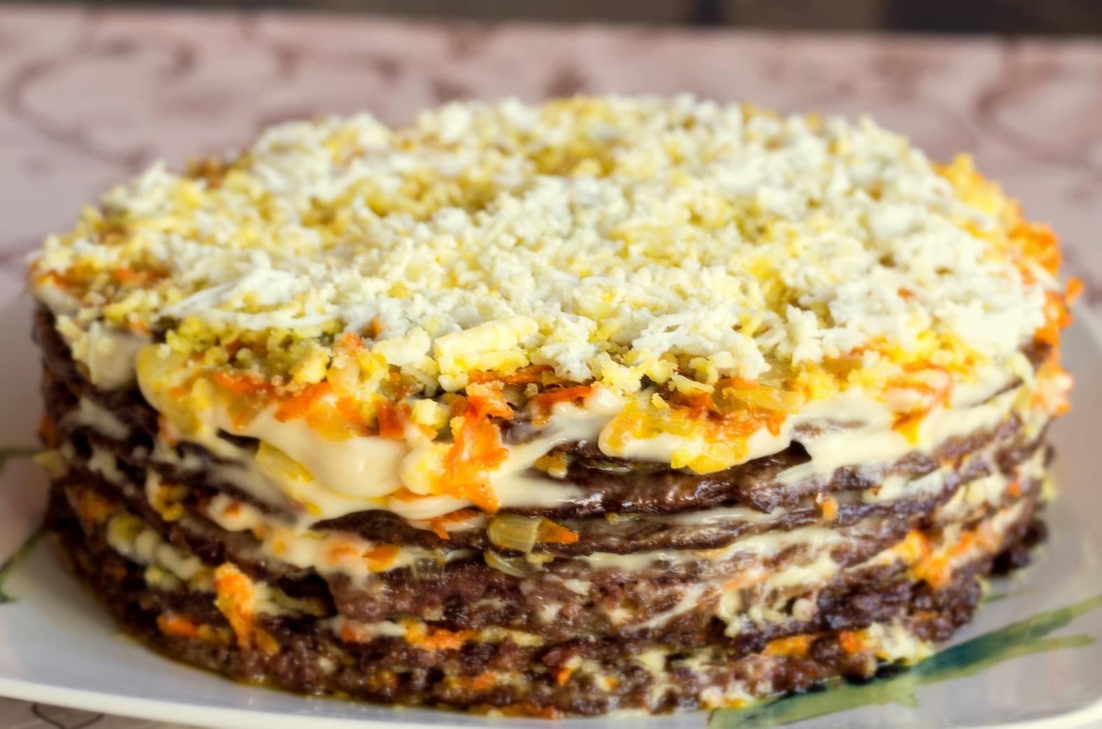 Печёночный торт рецепт фото